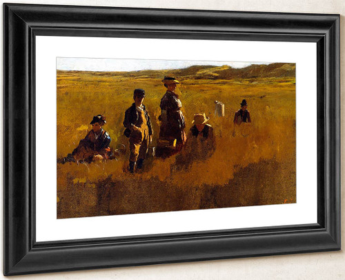 In The Fields By Eastman Johnson By Eastman Johnson