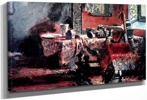 Interior . By Ilia Efimovich Repin