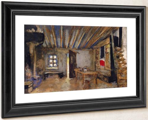 Interior Of An Inn, Set Design For 'The Leper' By Edouard Vuillard