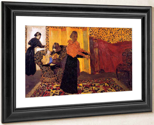 Interior With Red Bed By Edouard Vuillard