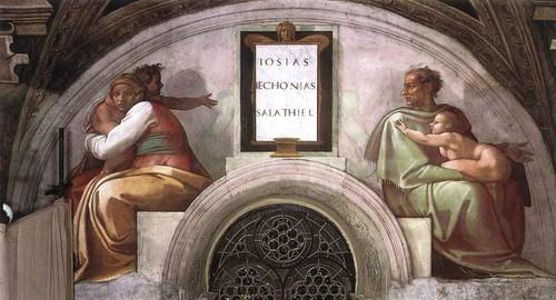 Josiah Jechoniah Shealtiel By Michelangelo Buonarroti By Michelangelo Buonarroti