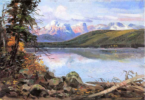 Lake Mcdonald By Charles Marion Russell