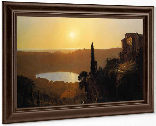 Lake Nemi 22 By Sanford Robinson Gifford