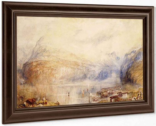 Lake Of Lucerne From Brunnen By Joseph Mallord William Turner