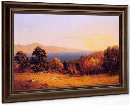 Lake Scene 1 By Sanford Robinson Gifford