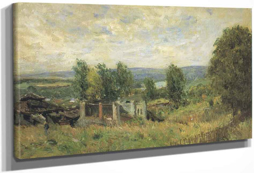 Landscape In Summer By Alfred Sisley