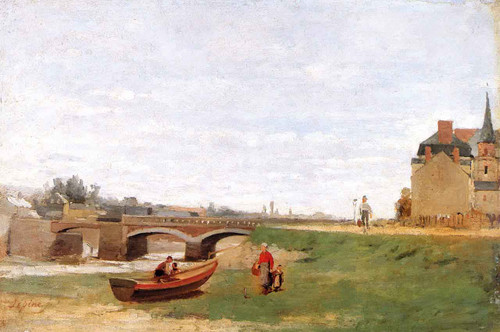 Landscape With A Bridge By Stanislas Lepine