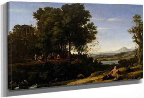 Landscape With Apollo And The Muses By Claude Lorrain By Claude Lorrain