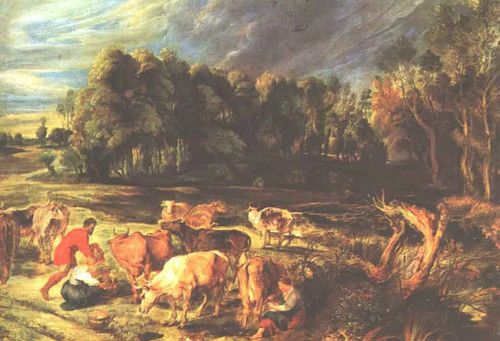 Landscape With Cows By Peter Paul Rubens
