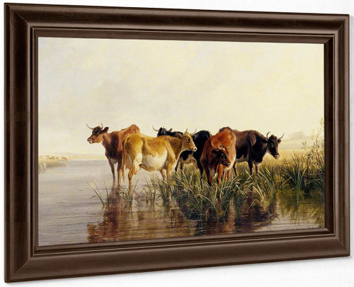 Landscape With Cows By Thomas Sidney Cooper By Thomas Sidney Cooper