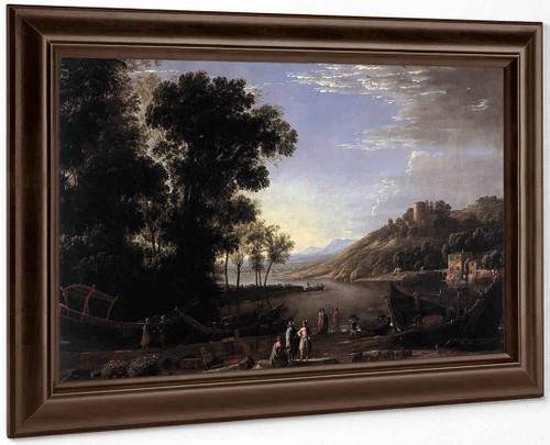 Landscape With Merchants By Claude Lorrain By Claude Lorrain