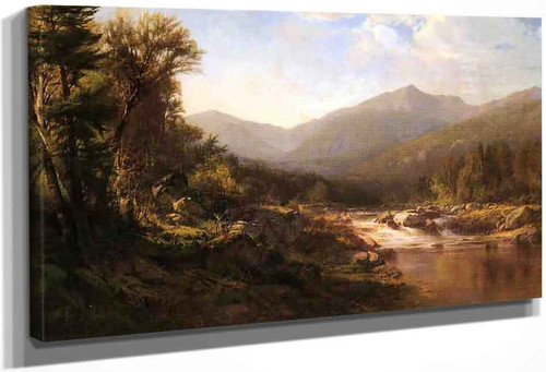 Landscape With Mountains And Stream By Alexander Helwig Wyant