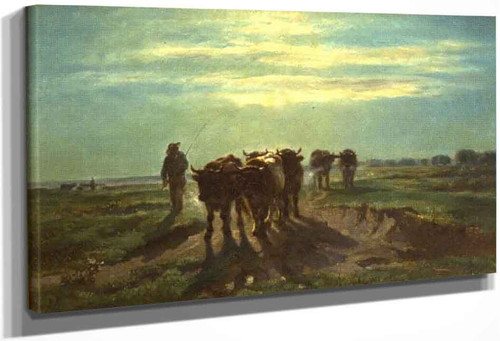 Landscape With Oxen By Constant Troyon