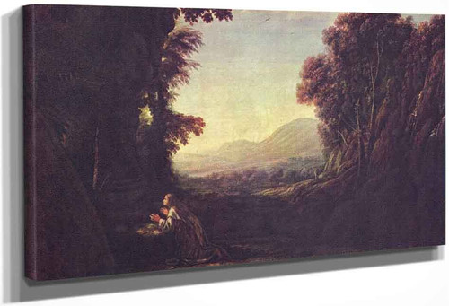 Landscape With Penitent Magdalene By Claude Lorrain By Claude Lorrain