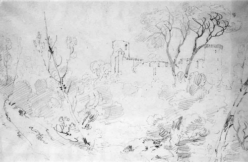 Landscape With Ruined Castle By Joseph Mallord William Turner