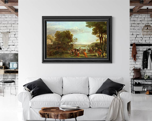 Landscape With The Worship Of The Golden Calf By Claude Lorrain By Claude Lorrain
