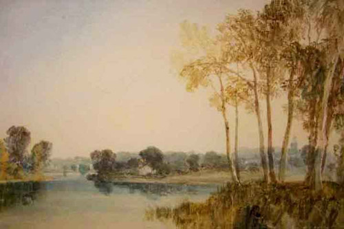 Landscape With Trees By The River Thames By Joseph Mallord William Turner