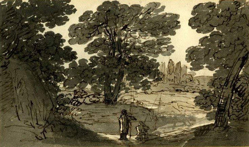 Landscape With Two Anglers By Francis Danby