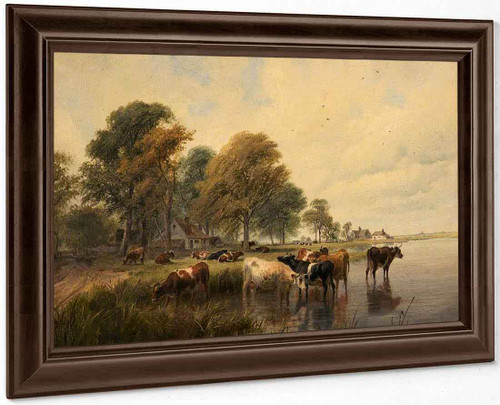 Landscape By Thomas Sidney Cooper By Thomas Sidney Cooper