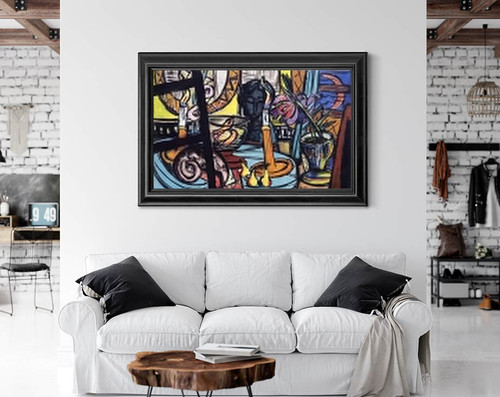 Large Still Life With Black Sculpture By Max Beckmann By Max Beckmann