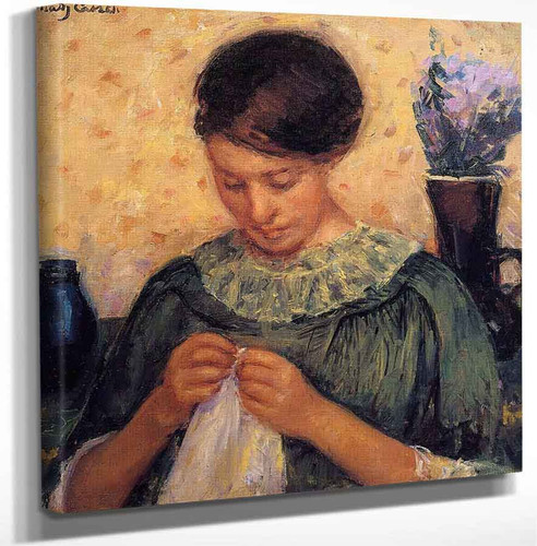 Woman Sewing 3 By Mary Cassatt Art Reproduction