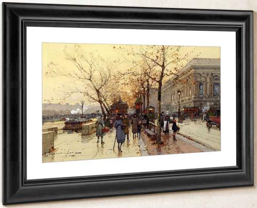 Les Quais De Paris By Eugene Galien Laloue