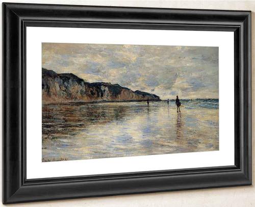 Low Tide At Pourville By Claude Oscar Monet