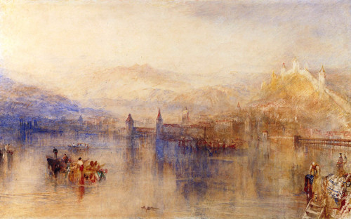 Lucerne From The Lake By Joseph Mallord William Turner