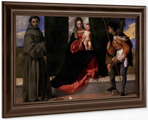 Madonna And Child With Saints Anthony Of Padua And Roch By Titian