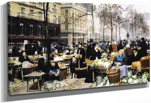 Market Day By Victor Gabriel Gilbert By Victor Gabriel Gilbert