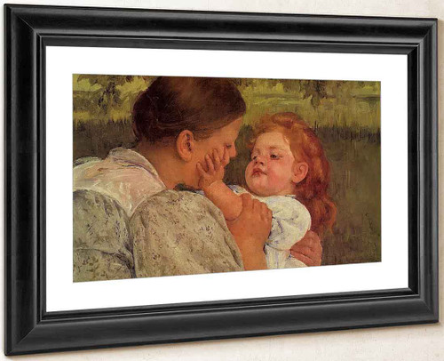 Maternal Caress 2 By Mary Cassatt