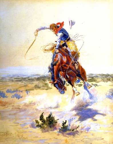 A Bad Hoss By Charles Marion Russell