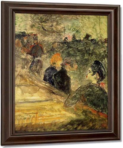 A Ball At The Moulin De La Galette By Henri De Toulouse Lautrec