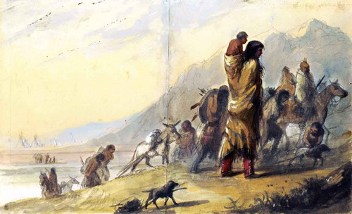 Migration Of The Pawnees By Alfred Jacob Miller