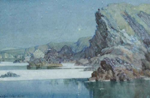 Moonlight, Newquay By Albert Moulton Foweraker