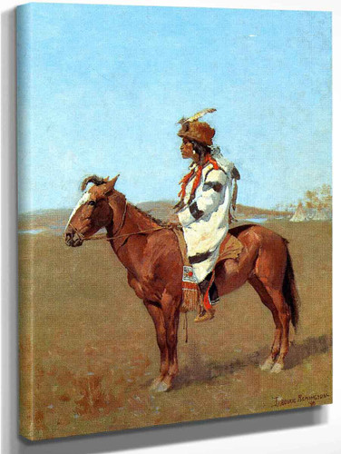 A Blackfoot Chief By Frederic Remington