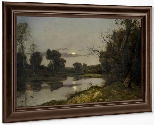 Moonrise1 By Henri Joseph Harpignies, Aka Henri Harpignies