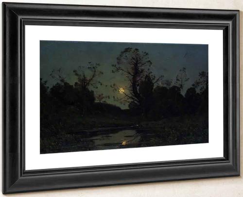 Moonrise By Henri Joseph Harpignies, Aka Henri Harpignies