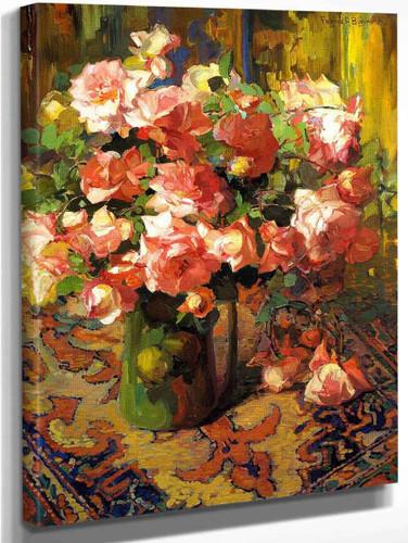 A Bouquet Of Roses1 By Franz Bischoff By Franz Bischoff