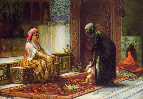 Mother And Child By Frederick Arthur Bridgman