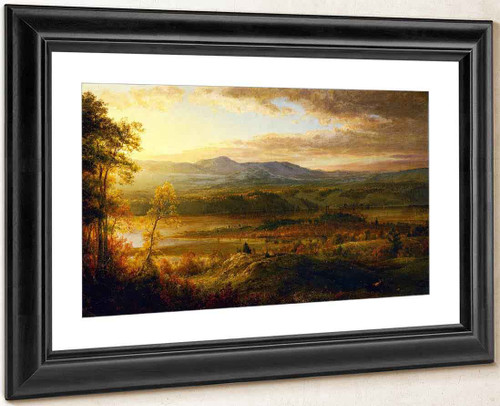 Mountains From The Home Of The Artist By Frederic Edwin Church By Frederic Edwin Church