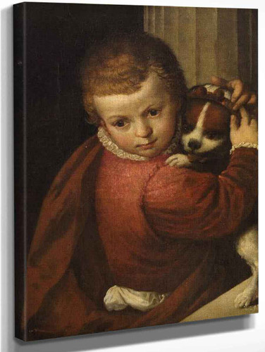 A Boy With A Dog By Paolo Veronese