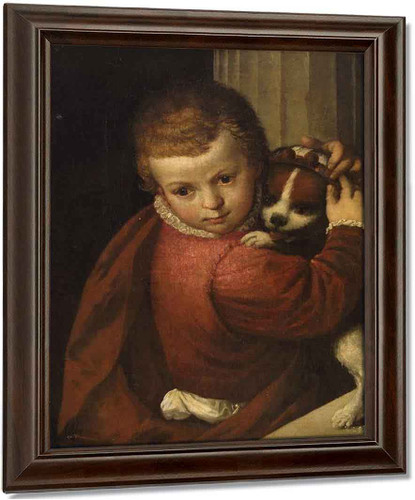A Boy With A Dog By Paolo Veronese Oil on Canvas Reproduction