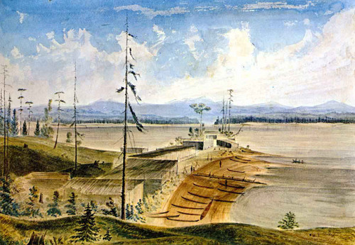 Nanaimo Indian Village By James Madison Alden By James Madison Alden