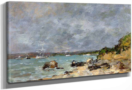 Near Plougastel By Eugene Louis Boudin
