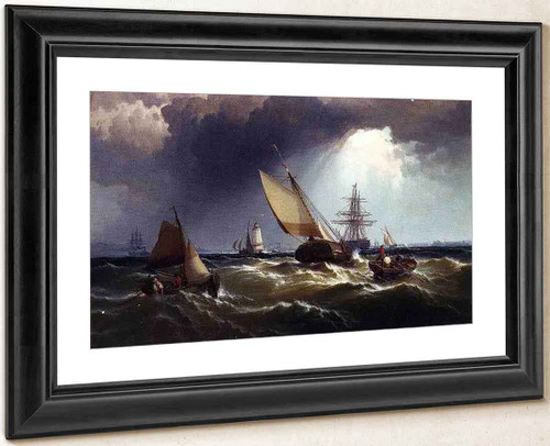 New York Harbor 1 By Edward Moran