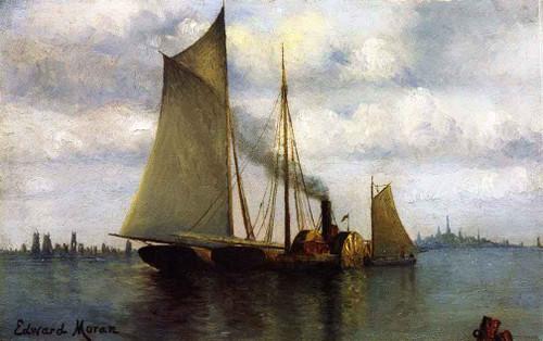 New York Harbor 2 By Edward Moran