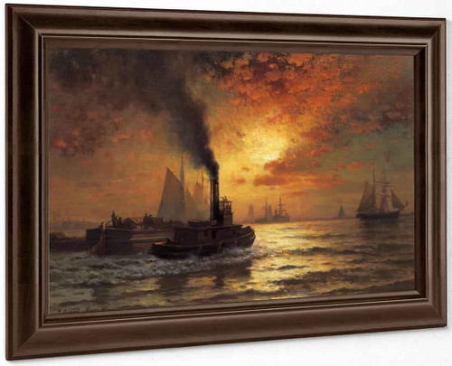 New York Harbor By Edward Moran