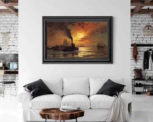 New York Harbor By Edward Moran