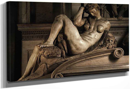 Night By Michelangelo Buonarroti By Michelangelo Buonarroti